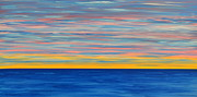 John Tidball Metal Prints - Ocean Sunset Metal Print by John Tidball