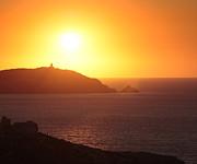 Ocean Sunset  Print by Pixel Chimp