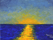 Ocean Sunset Print by Susan Plenzick
