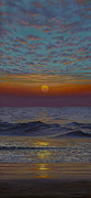 Original For Sale Posters - Ocean. Sunset Poster by Vrindavan Das