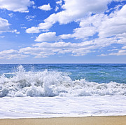 Beach Scenery Metal Prints - Ocean surf Metal Print by Elena Elisseeva