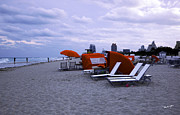 Chaise Photo Prints - Ocean View 6 - Miami Beach - Florida Print by Madeline Ellis