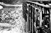 Ocean Images Prints - Ocean View at LBI bw Print by John Rizzuto