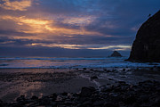 Cannon Beach Prints - Oceanside Evening Print by Mike Reid