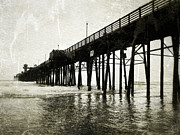 Ocean Scenes Digital Art Framed Prints - Oceanside Pier Framed Print by Glenn McCarthy Art and Photography