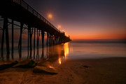 Surf Photography Prints - Oceanside Sunset 15 Print by Larry Marshall