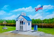 States Pastels - Ochopee Post Office Countrys Smallest Post Office by Melinda Saminski
