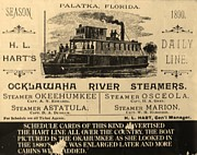 Florida Prints - Ocklawaha River Steamers Print by Warren Thompson