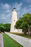 Lightstation Posters - Ocracoke Lighthouse Poster by Mary Almond