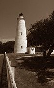 Photos Of Lighthouses Prints - Ocracoke Lighthouse Print by Skip Willits