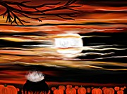 Samhain Digital Art - October 31st - Samhain Skies by Roxy Riou