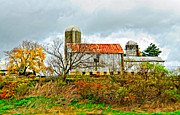 Pennsylvania Art - October Barn paint by Steve Harrington