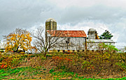 Pennsylvania Art - October Barn by Steve Harrington