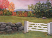 Autumn Foliage Pastels Prints - October Color Print by Carol Corliss