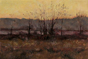 Picturesque Painting Prints - October Dusk Print by Gregory Arnett