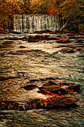 October Framed Prints - October Falls Framed Print by Darren Fisher
