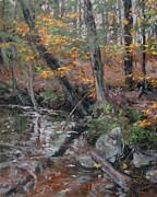 October Leaves Print by Gregory Arnett