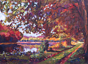 Water Reflections Originals - October Mirror Lake by