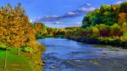 Munroe Digital Art Prints - October on the Cuyahoga Print by Dennis Lundell