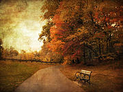 Autumn Landscape Digital Art Prints - October Tones Print by Jessica Jenney