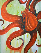 Diana Prickett Metal Prints - Octopi Metal Print by Diana Prickett