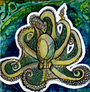 Genevieve Esson Painting Originals - Octopus by Genevieve Esson