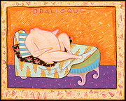 Chalk Drawing Metal Prints - Odalisque Metal Print by Sarah Stone