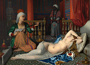 Famous Artists - Odalisque with the Slave. Copy After Ingres by William McGregor Paxton