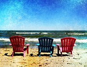 Lawn Chair Digital Art Posters - Odd Man Out Poster by Shawna  Rowe