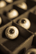 Depth Of Field Prints - Oddities Fake Eyeballs Print by Edward Fielding
