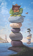 Inspirational Paintings - Ode to a Zen Koan by Paul Bond
