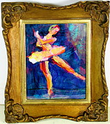 Ballet Dancers Painting Framed Prints - Ode to Degas Framed Print by Les Leffingwell