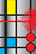 Ode To Mondrian Print by Ramon Martinez Jr