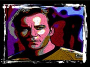 William Shatner Posters - Ode to Star Trek Poster by John Malone