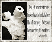 Absorbent Posters - Ode To The Spare Roll BW 2 Poster by Andee Photography