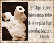 Toiletry Prints - Ode To The Spare Roll Sepia 2 Print by Andee Photography