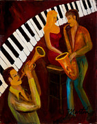 Sax Painting Originals - Ode to the Strawberry Blond by Larry Martin