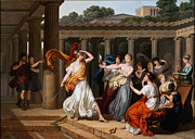 Famous Artists - Odysseus recognises Achilles amongst the daughters of Lycomedes by Louis Gauffier