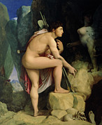 Foot Paintings - Oedipus and the Sphinx by Ingres