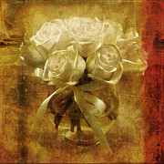 Lace Digital Art - Of Roses and Lace by Lois Bryan