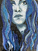 Mosaic Portrait Glass Art - Of Water by Monique Sarfity