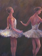 Ballet Dancers Painting Framed Prints - Of which each movement  Framed Print by Bonnie Goedecke