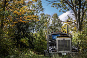 Fall Grass Posters - Off Road Trucker Poster by Edward Fielding