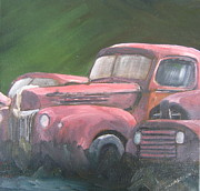 Rusty Truck Paintings - Off road vehicles by Susan Richardson