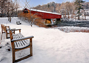 Covered Bridge Prints - Off Season Print by Bill  Wakeley
