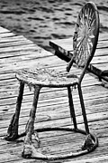 Lawn Chair Metal Prints - Off-Season Grunge Metal Print by Christi Kraft