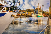 Florida Bridges Prints - Off the Starboard Bow Print by Debra and Dave Vanderlaan