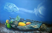Surrealist Painter Framed Prints - Offering Under The Sea Framed Print by Nelson Madero