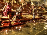 Ganga Photos - Offerings to Mother Ganga by Susan Buechel