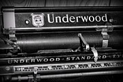 Underwood Typewriter Posters - Office - Antique Typewriter Poster by Paul Ward